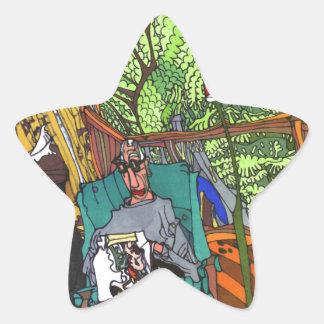 Sticker Étoile Point à temps
