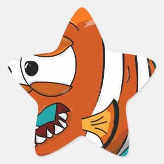 Sticker Étoile poissons