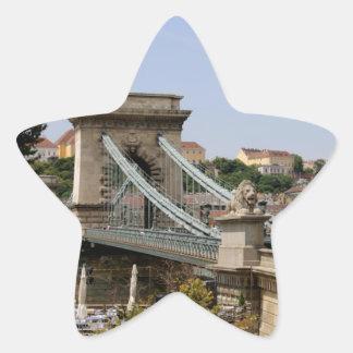 Sticker Étoile Pont à chaînes de Széchenyi, Budapest, Hongrie