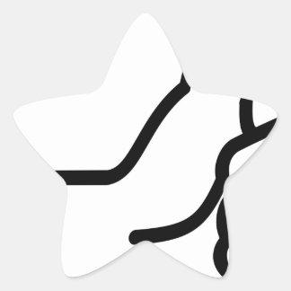 Sticker Étoile Pouces