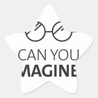 Sticker Étoile Pouvez vous imaginer la chanson anglaise de John
