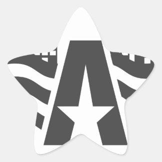 Sticker Étoile Premier nom de lettre - un paysage de ville avec