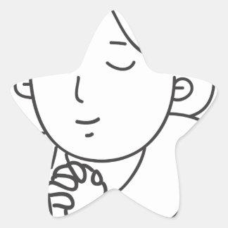 Sticker Étoile Prière