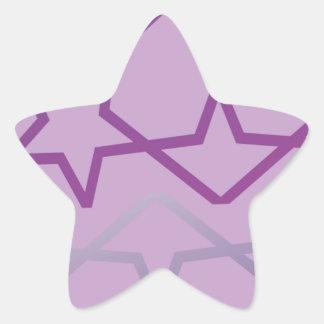 Sticker Étoile Profil sous convention astérisque abstrait inspiré