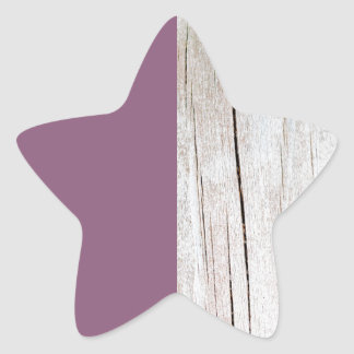 Sticker Étoile Purple + Wood