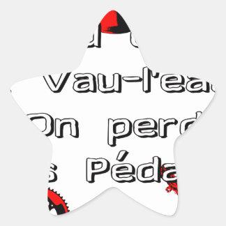 Sticker Étoile Quand on va à Vau-L'eau On perd les Pédales