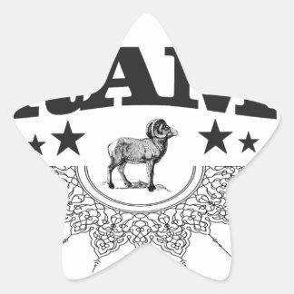 Sticker Étoile RAM des moutons