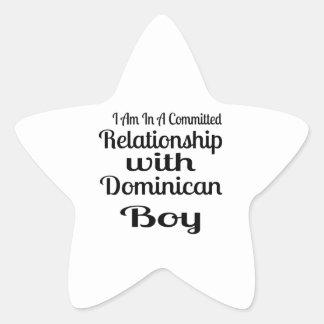 Sticker Étoile Rapport avec le garçon dominicain