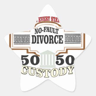 Sticker Étoile réduisez la garde 50 50 automatique de divorces