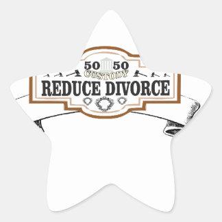 Sticker Étoile réduisez la garde 50 du divorce 50