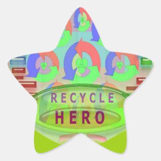 Sticker Étoile RÉUTILISEZ la RÉCOMPENSE de HÉROS - encouragez
