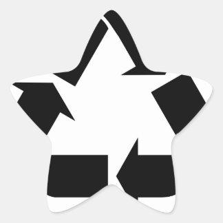 Sticker Étoile Réutilisez le symbole