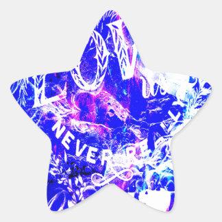 Sticker Étoile Rêves de Noël d'améthyste de ceux qui nous aiment