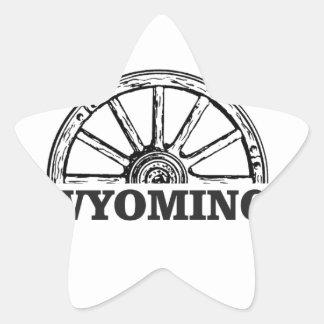 Sticker Étoile roue du Wyoming