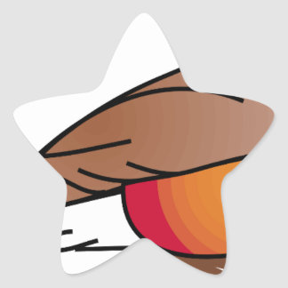 Sticker Étoile rouge-merle