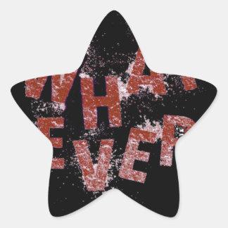 Sticker Étoile Rouge quoi que