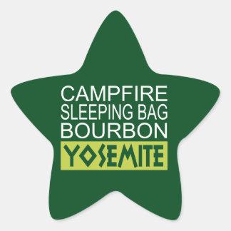 Sticker Étoile Sac de couchage de feu de camp Bourbon Yosemite