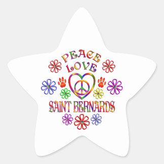 Sticker Étoile Saint Bernards d'amour de paix