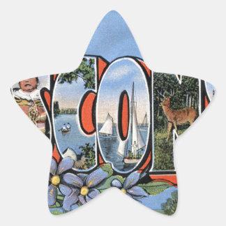 Sticker Étoile Salutations du Wisconsin