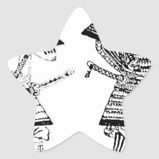 Sticker Étoile Samouraï