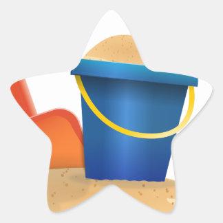 Sticker Étoile Seau de sable