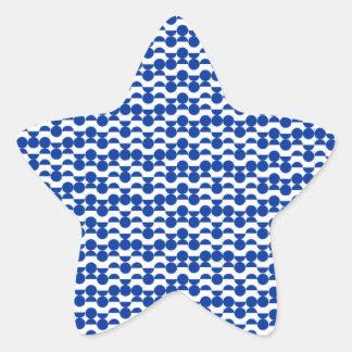 Sticker Étoile semi mosaïque de bleu de cercle