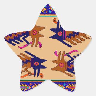 Sticker Étoile Serpent de tribal d'Inca