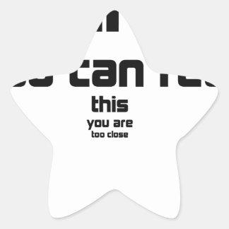 Sticker Étoile si vous pouvez lire ceci, vous êtes cadeau trop