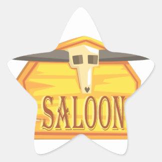 Sticker Étoile Signe de salle avec le dessin de tête morte