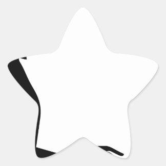 Sticker Étoile Silhouette femelle d'ordinateur