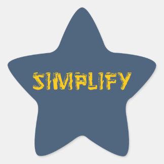 Sticker Étoile Simplifiez