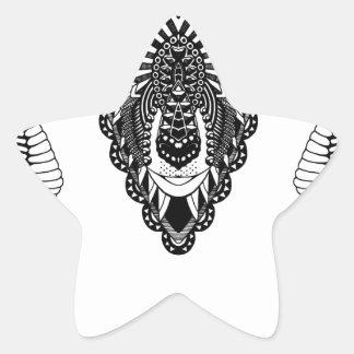 Sticker Étoile Style de mandala de dessin de RAM
