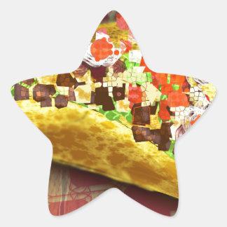Sticker Étoile Taco de pixel