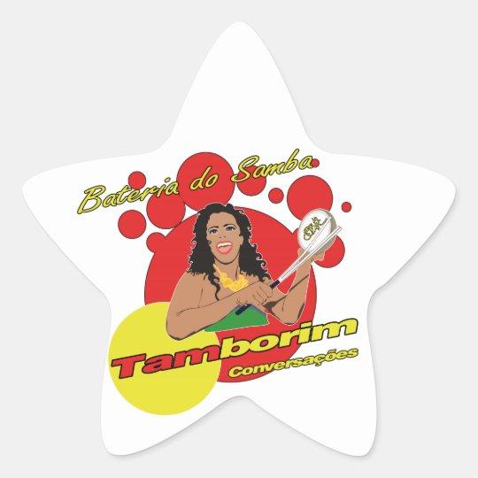 Sticker Étoile Tamborim Batucada de Samba