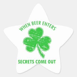 Sticker Étoile tee - shirt drôle de bière
