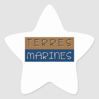 Sticker Étoile Terres marines