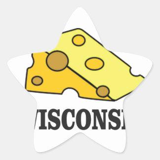 Sticker Étoile Tête de fromage du Wisconsin