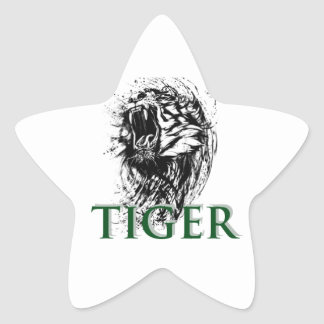 STICKER ÉTOILE TIGRE