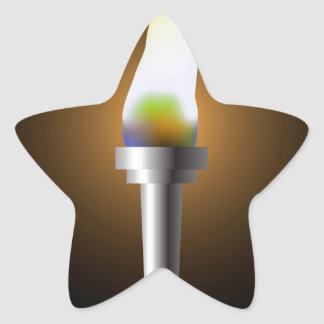Sticker Étoile Torche