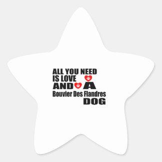 Sticker Étoile Tous vous avez besoin de la conception de chiens