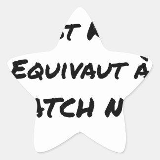 STICKER ÉTOILE TRAITEMENT PAR LOT KO ÉQUIVAUT À BATCH NUL