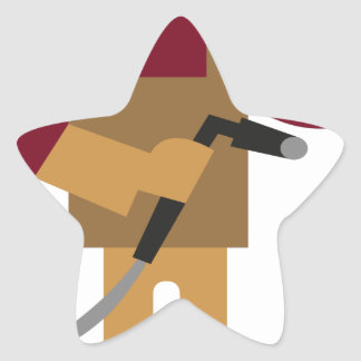 Sticker Étoile Travailleur en métal