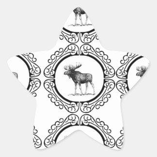 Sticker Étoile troupeau d'anneau d'orignaux