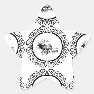 Sticker Étoile troupeau d'élans dans le groupe