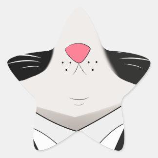 Sticker Étoile un chat soutenu avec le costume de smoking