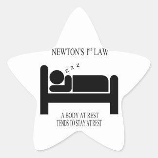 Sticker Étoile Un corps tend au repos à rester au repos la loi de