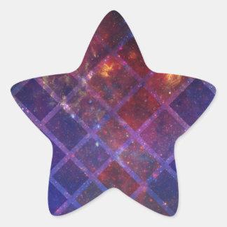 Sticker Étoile Univers de bloc
