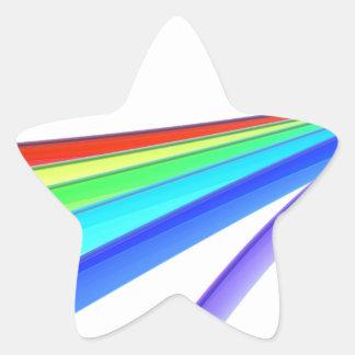 Sticker Étoile Vagues d'arc-en-ciel