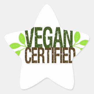 Sticker Étoile Végétalien certifié
