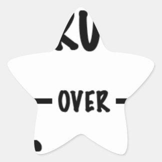 Sticker Étoile Vérité au-dessus des cadeaux d'atout